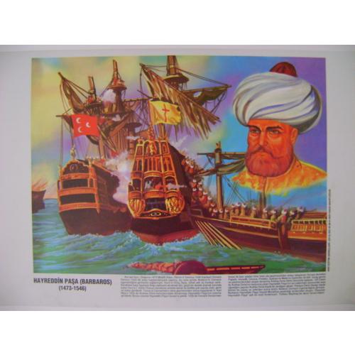 Hayrettin Paşa (Barbaros) Poster 35*50Cm