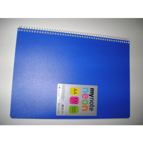 My Note Neon A4 100Yp Kareli Pp Kapak