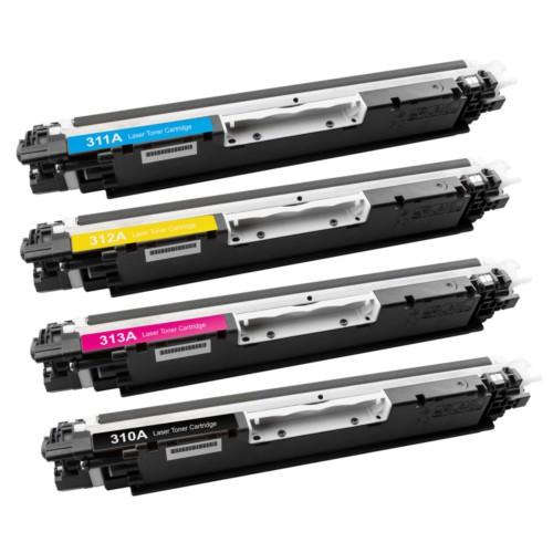 Calligraph Hp LaserJet Pro CP1025nw 4 Renk Renkli Toner 4 lü Ekonomik Paket Muadil Yazıcı Kartuş