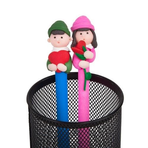 BuldumBuldum Çiftlere Özel 2Li Renkli Kalemler - Kalpli