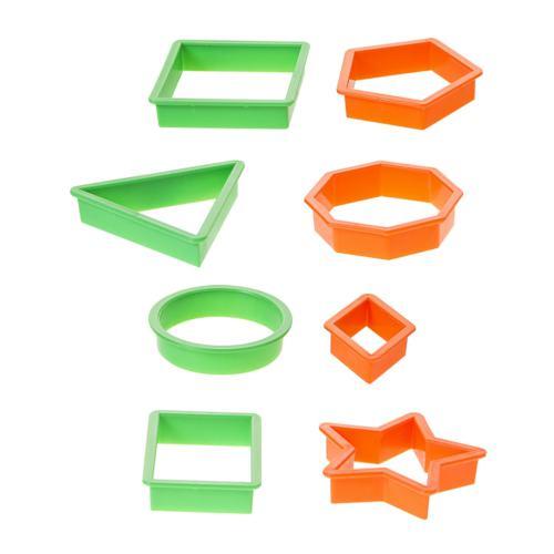Bu-Bu Hamur Kalıbı Geometrik Şekiller 8 Parça BUBU-HK0001