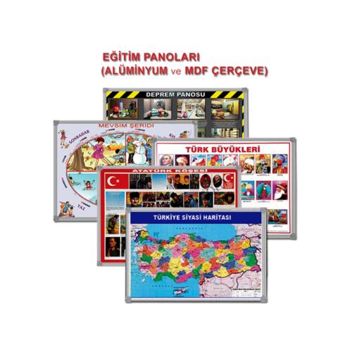 Türkiye Fiziki Haritası Alüminyum 70X100 Cm