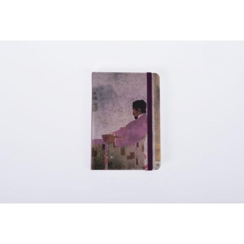 Notepad 9x14 cm, sert kapak, lastik bantlı, ivory-çizgisiz, 96 yaprak