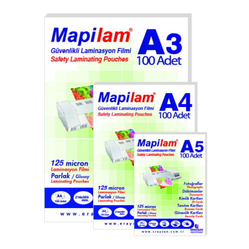 Mapilam 150 Mic K.Kimlik 78 X 102 mm Mat Laminasyon Filmi (1041510)