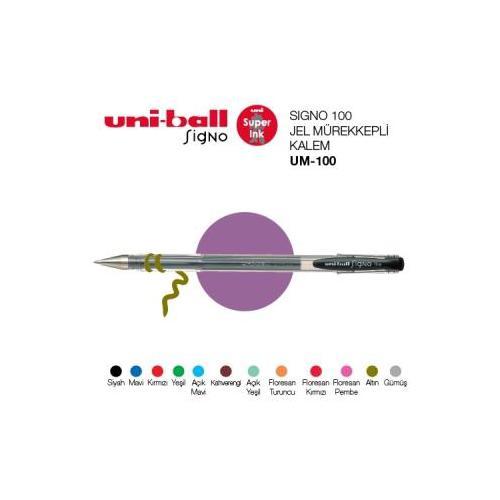 Uni-Ball Um-100 Koyu Yeşil Signofine 0.7 Jel Kalem