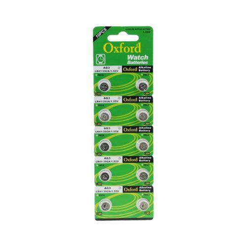 Oxford Ag3 Lr41 384 L736 Alkaline Düğme Pil 10 Adet