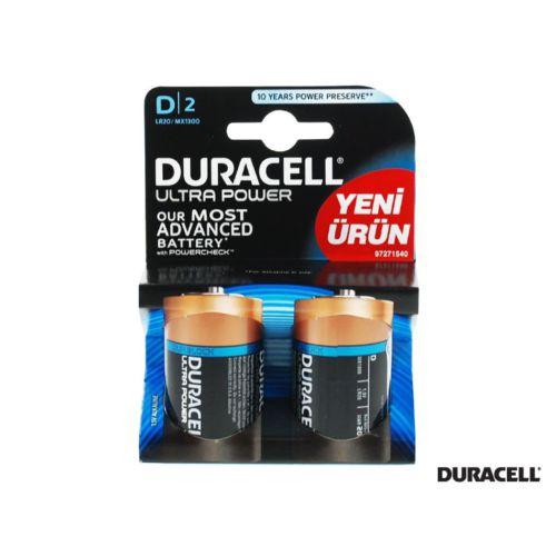 Duracell Ultra Power D Büyük Pil 2 Adet Kd