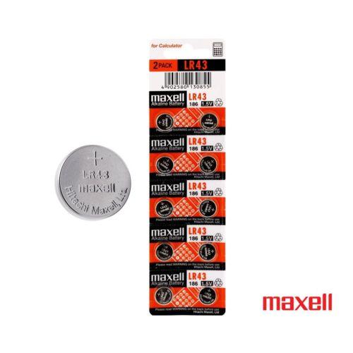 Maxell Lr43 Alkalin Düğme Pil 10 Adet Kd