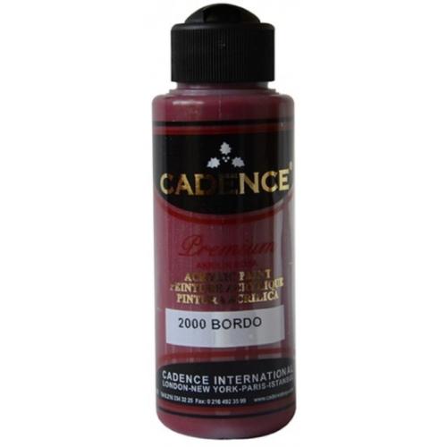 Cadence Premium Akrilik Boya 120ml 2000 Bordo
