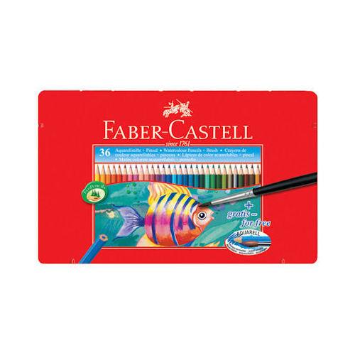 Faber-Castell Aquarel Suluboya Kalemi Metal Kutu 36 Renk