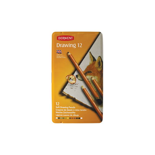 Derwent Drawing Pencils Renkli Çizim Kalemi 12 Renk Teneke Kutu