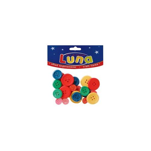 Luna Ahşap Düğmeler Lna0601682