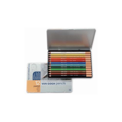 Talens Van Gogh Pastel Kalem 12 Renk Metal Kutu