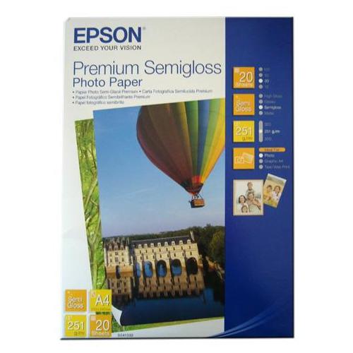Epson A4 Premıum Semıgloss 251Gr 20Li Photo Paper