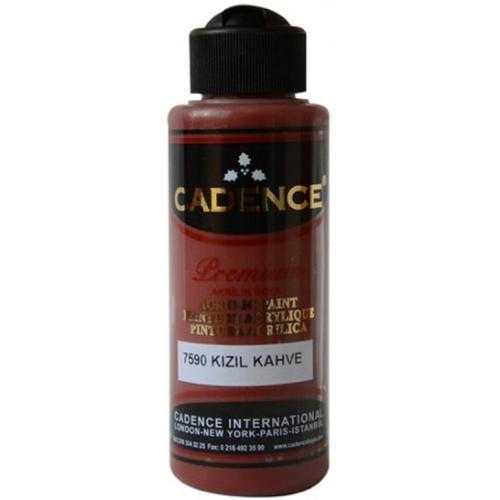 Cadence Premium Akrilik Boya 120ml 7590 Kızıl Kahve