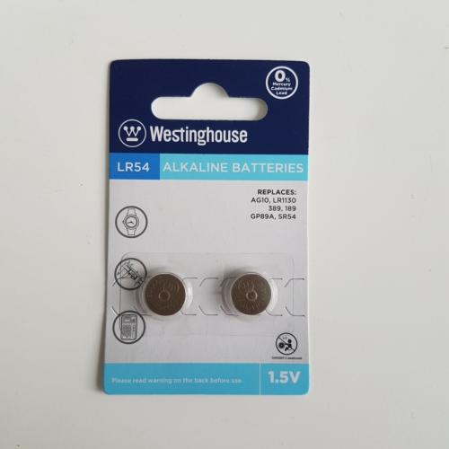 Westinghouse AG10,LR54 Alkalin Saat Pili 2li Blister Ambalaj