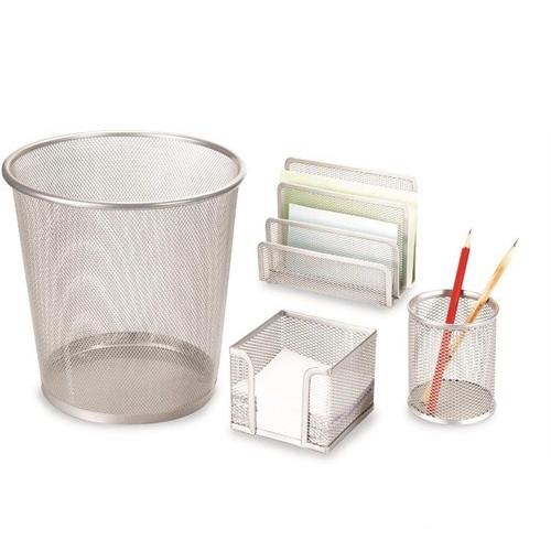 Gıpta 4 Parça Metal Ofis Seti Gümüş