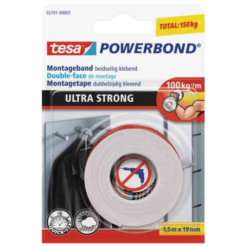 Tesa Köpük Montaj Bandı - Powerbond Ultra Güçlü 1,5m 19mm