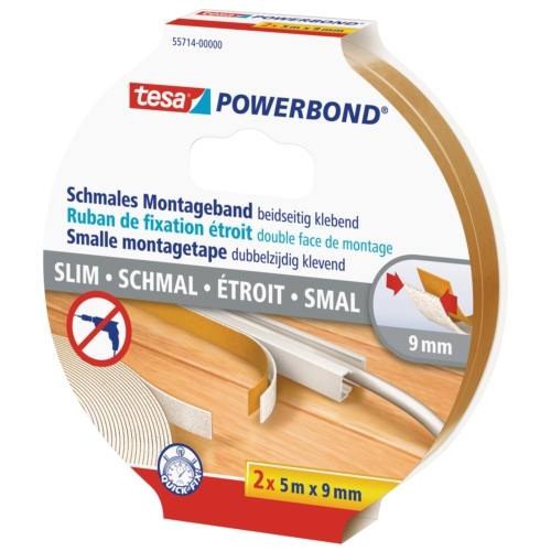 Tesa Köpük Montaj Bandı - Powerbond Slim 2adt 5m 9mm