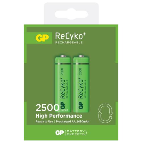 GP 2'li ReCyko 2500 Serisi Ni-Mh Şarj Edilebilir AA Kalem Pil (GP250AAHCEMTR-2GB2)