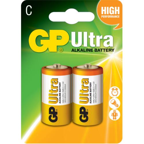 GP Ultra Alkalin 2'li C Boy Orta Pil (GP14AU-2U2)