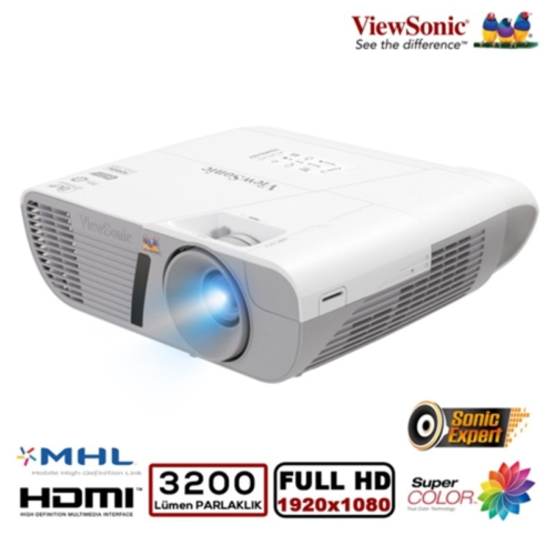 ViewSonic PJD7828HDL 1920x1080 FULL HD 3200 Ansilümen 22000:1 HDMI 3D Projeksiyon Cihazı+ ViewStick2 WiFi Gateway