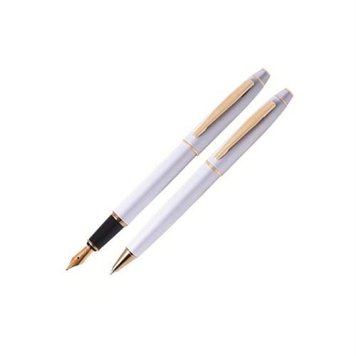 Scrikss 35 Dolma&Tükenmez Kalem Seti Beyaz Altın