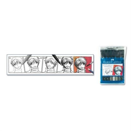 Faber Castell Pitt Çizim Manga 8'Li Poşet Kuru Boya167107
