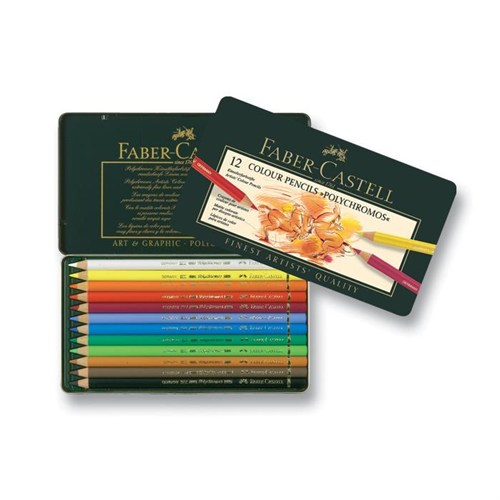 Faber Castell Polychromos Kuru Boya Kalemi 12 Renk 110012