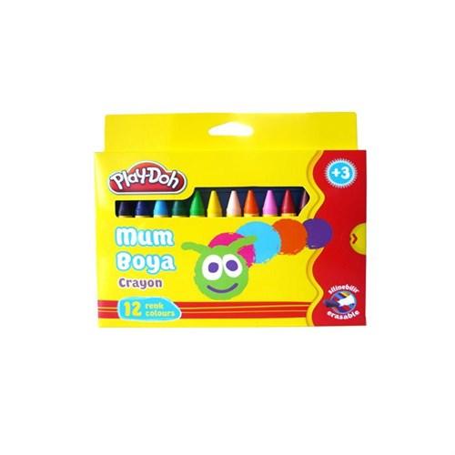 Play-Doh Crayon 12 Renk Crayon Mum Boya 8Mm