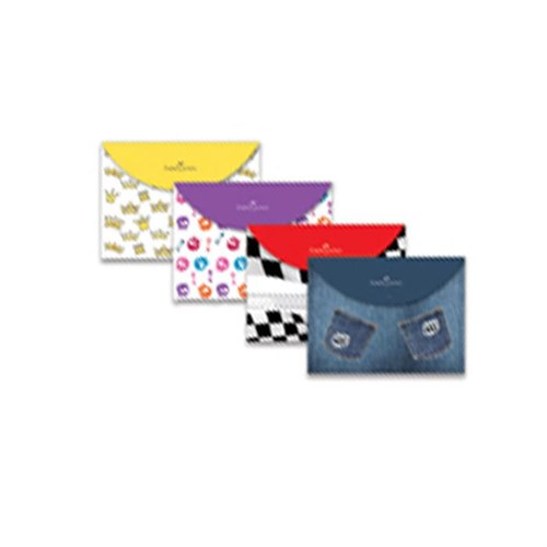 Faber-Castell Trendy Çıtçıtlı Şeffaf Dosya 393500
