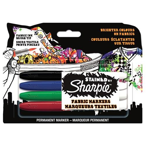 Sharpie Kumaş Markörü 4 Renk Birarada