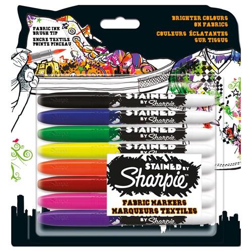 Sharpie Kumaş Markörü 8 Renk Birarada