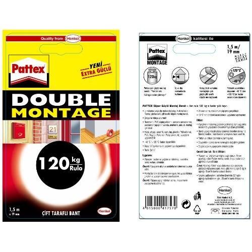 Pattex Double Montage 19mm x1,5mt 120kg (1483609) - ESKİ KOD