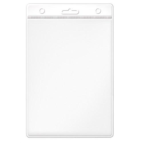 Mas 3512 Plastik Kart Poşeti - Dikey-54X86-Renkli Başlık-Beyaz 100 Lü