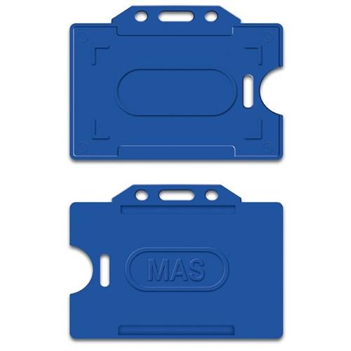 Mas 3520 Plastik Kart Muhafaza - Yatay-54X86-Lacivert 50 Li,