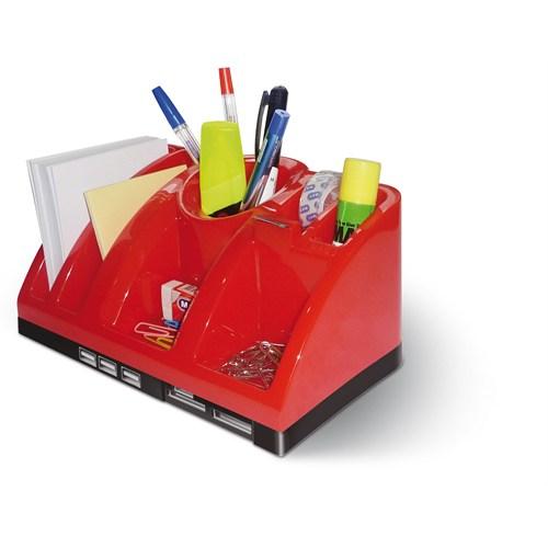 Mas 6602 Desk Organızer - Usb Hub - C.Reader-Lacivert