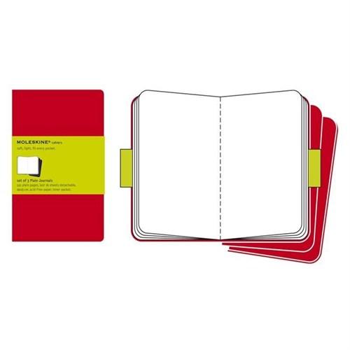 Moleskine Cahier 3Lü Defter Kırmızı Düz Xl 120Syf Ch123