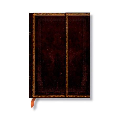 Paperblanks 3-845-4 Black Moroc.Midi-Düz (Midi – 120 x 170 mm. 160 Sf)