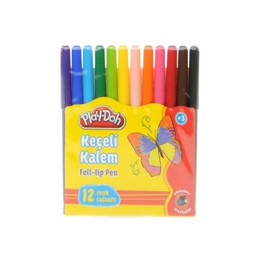 Play-Doh 12 Renk Keçeli Kalem Karton Kutu 8 Mm