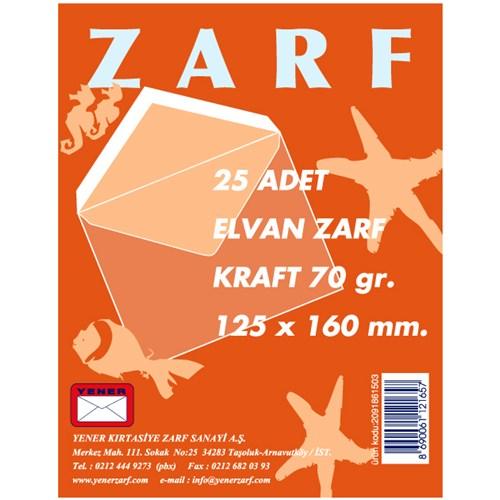 Yener Elvan Zarf 172 114x162 Mm 70gr 25'Li