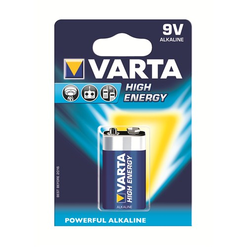 Varta High Energy Güçlü Alkalin Seri 9V Pil - E 4922121411