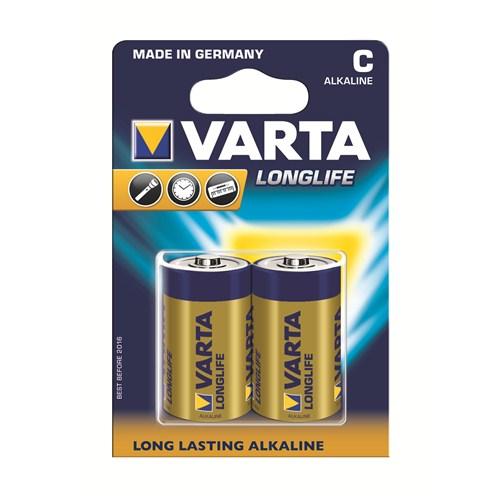 Varta Longlife Extra Ekonomik Alkalin Seri Orta Pil - C 2'li 4114101412
