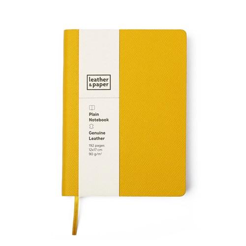 Leather&Paper 12X17 Sarı Çuval Baskı Deri Defter