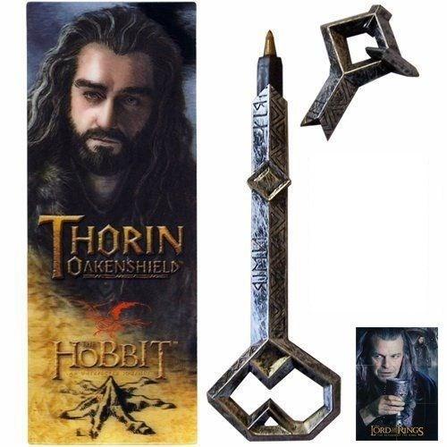 Noble Collection The Hobbit Thorin Oakenshield Kalem Ve Kitap Ayracı Seti