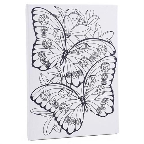 Desenli Tuval 30X40cm - Kelebekler