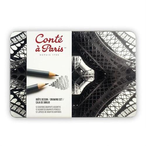 Conte Paris Sketch Drawing Set 12'Li