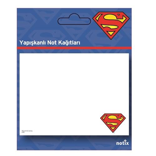 Notix Superman Şekilli 50 yp 100 x 75 Not Kağıdı
