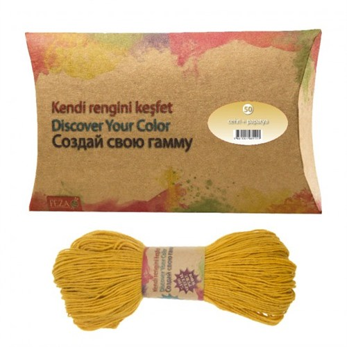 Feza Hand Dyed Yarns Kendi Rengini Keşfet Cehri+Papatya Organik İplik Boyası No:50
