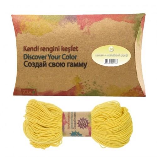 Feza Hand Dyed Yarns Kendi Rengini Keşfet Saman+Muhabbet Çiçeği Organik İplik Boyası No:38